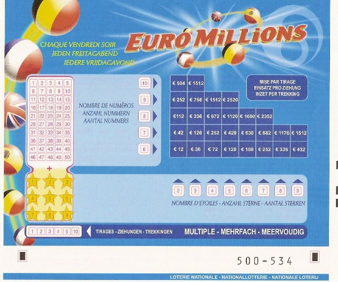 Grille euro millions de la belgique - Tarif grille euromillion ...