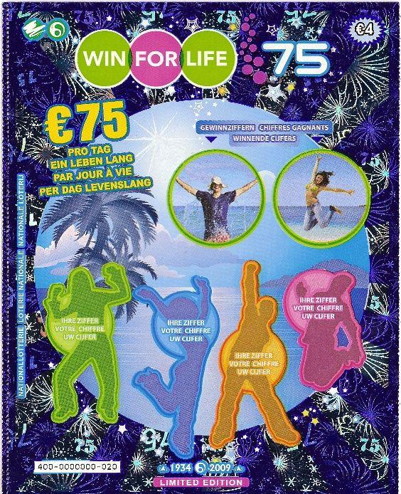 WIN FOR LIFE 75 de la loterie de Belgique ( 2009 )